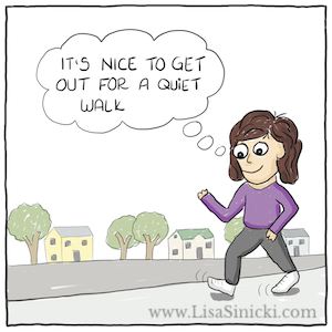 The Overthinker Goes for a Walk