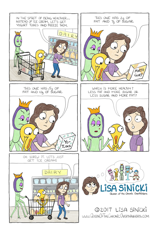 Lisa Goell Sinicki which is less unhealthy comic